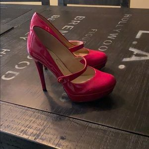 Jessica Simpson red patent shoes